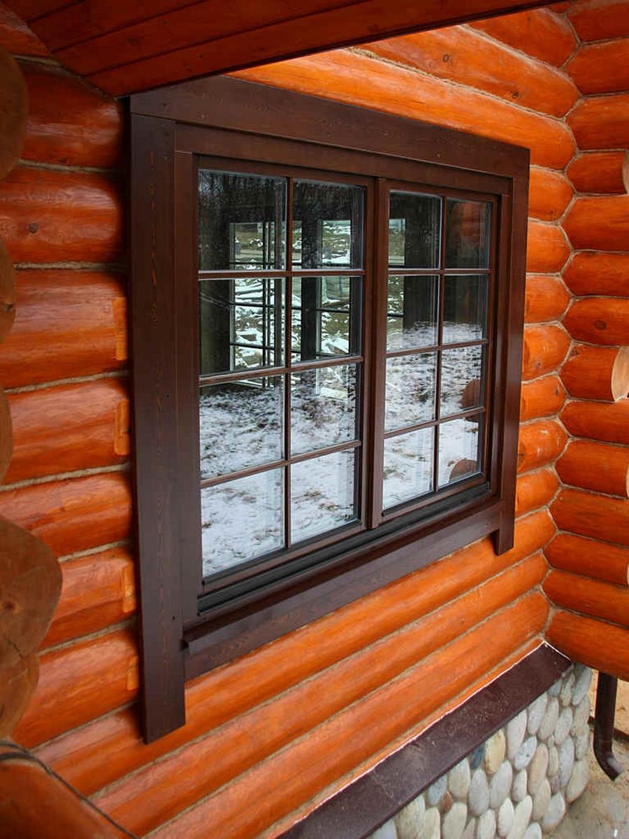 Современные окна пластиковые в деревянном доме 18