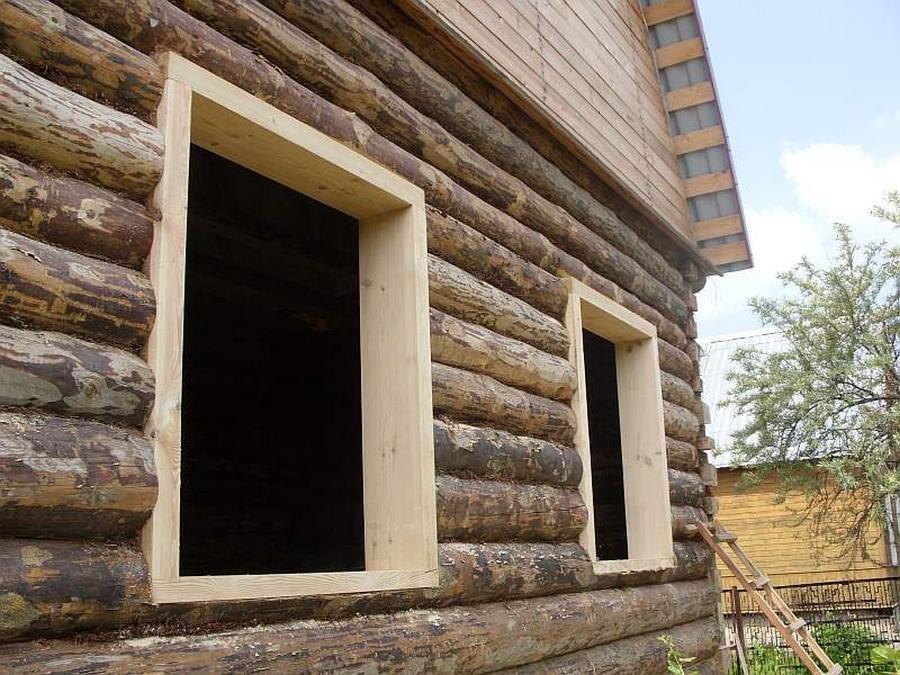 Современные окна пластиковые в деревянном доме 20