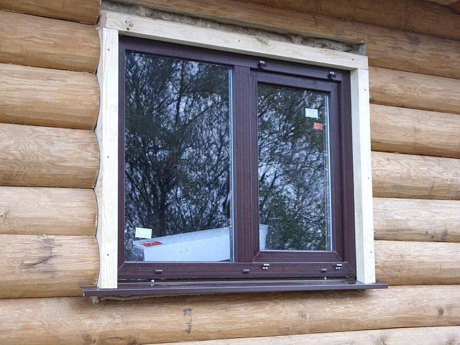 Современные окна пластиковые в деревянном доме 21