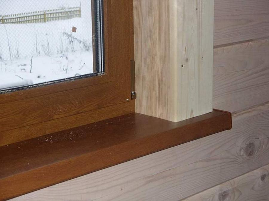 Современные окна пластиковые в деревянном доме 22