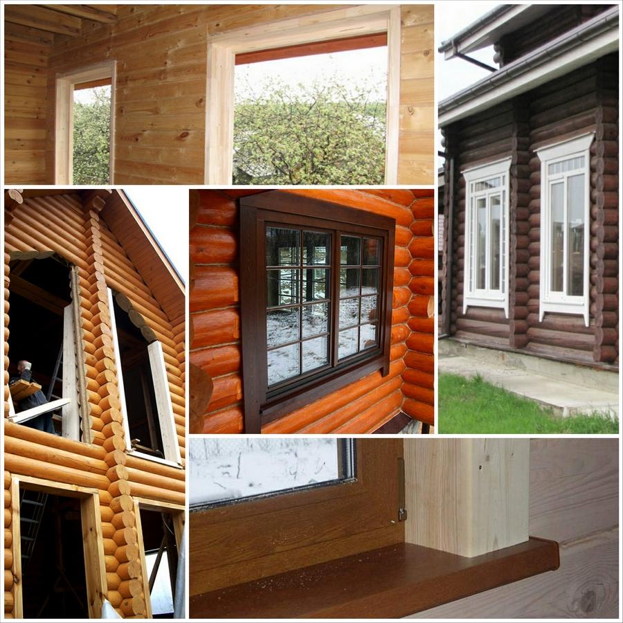 Современные окна пластиковые в деревянном доме