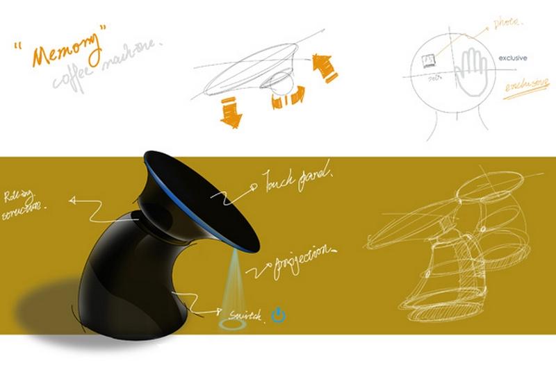 Концепт кофеварки Memory coffee maker 3