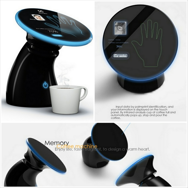 Концепт кофеварки Memory coffee maker