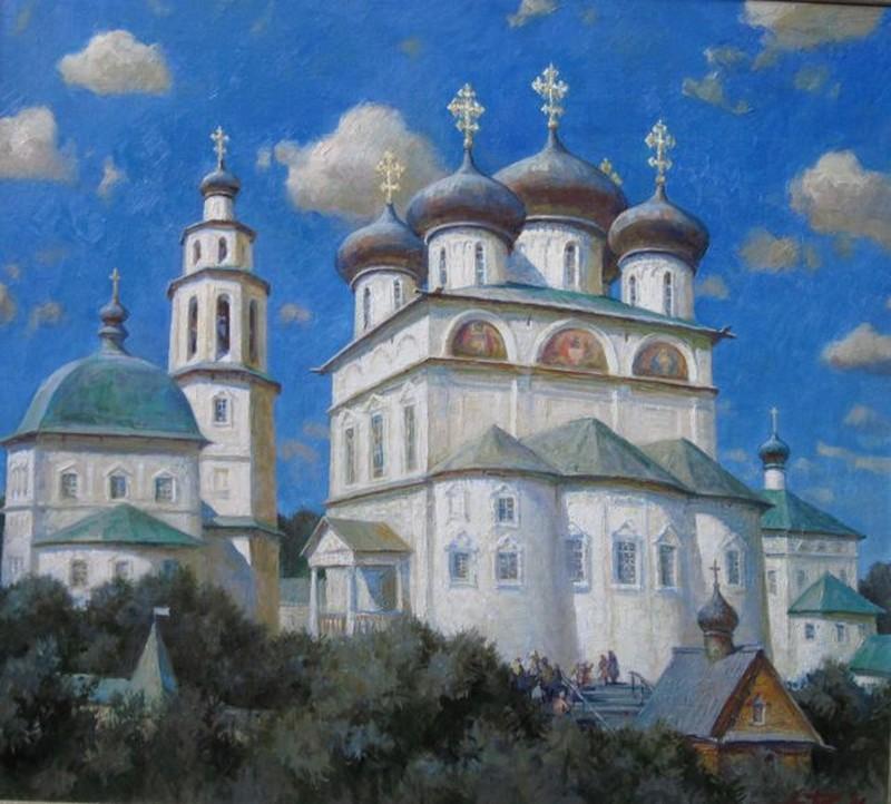 Успенский Трифонов мужской монастырь, один из самых красивых архитектурных ансамблей Кирова 12