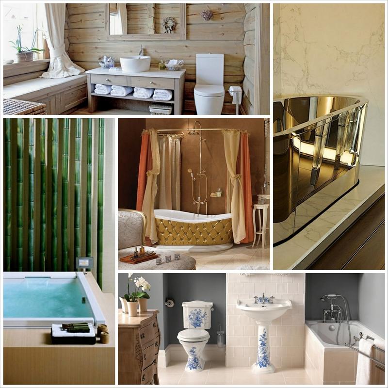 Поговорим об интересных стилях оформления ванной комнаты своими руками