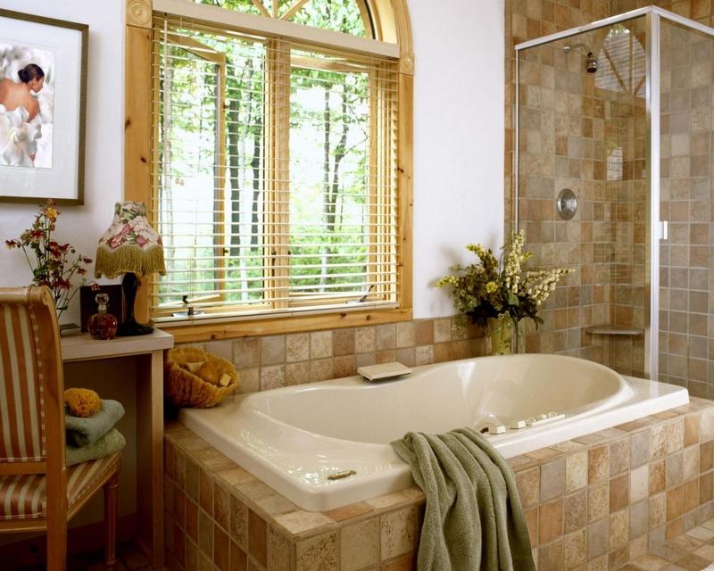 ванная комната - стиль кантри 1