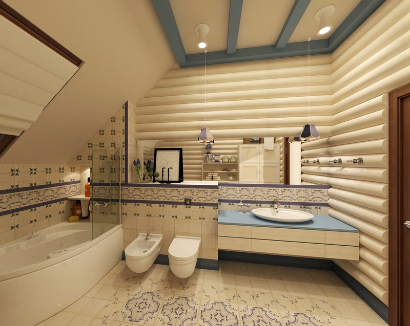 ванная комната - стиль кантри 2