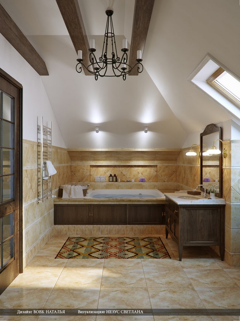 ванная комната - стиль кантри 3