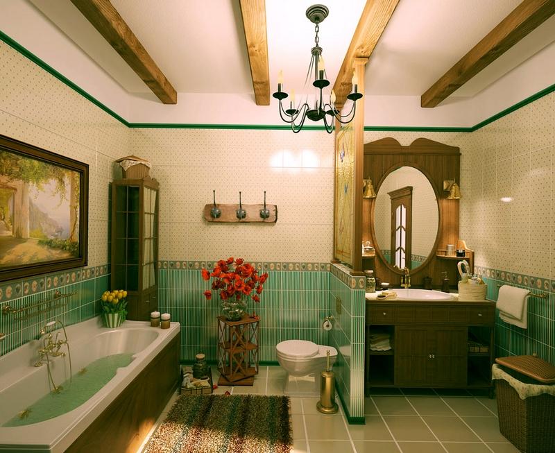ванная комната - стиль кантри 5