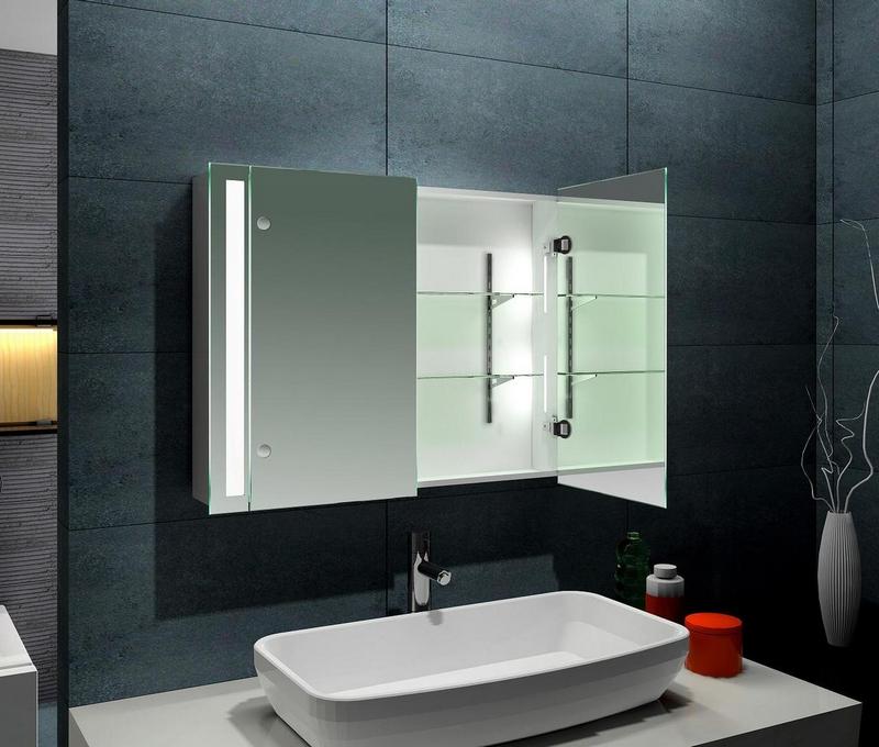 зеркальный шкаф для ванной 6