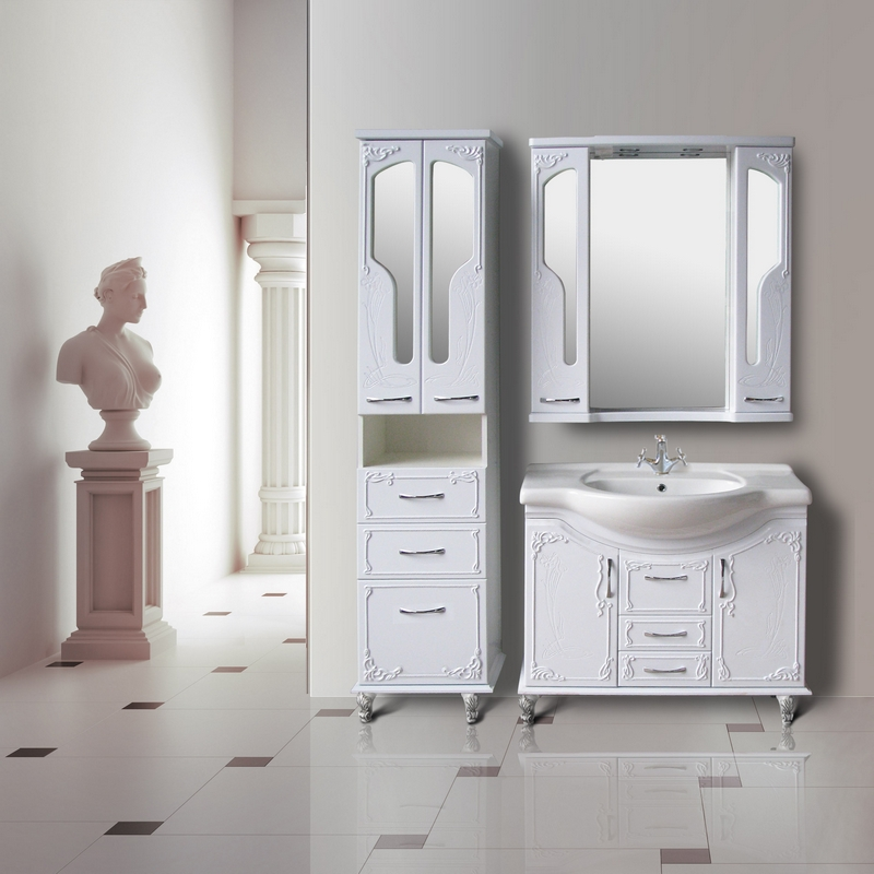зеркальный шкаф для ванной 25