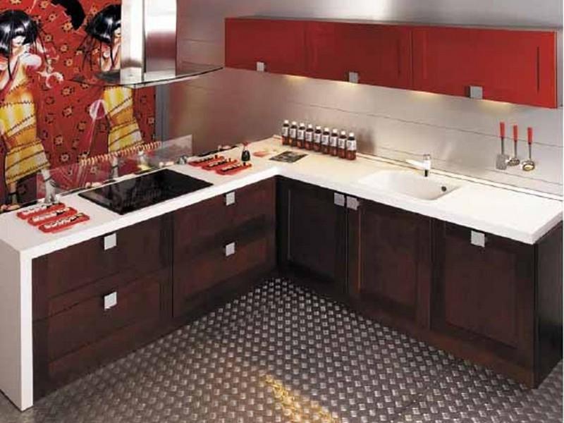 Оригинальный интерьер кухни в японском стиле 2
