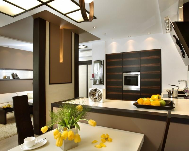 Оригинальный интерьер кухни в японском стиле 8