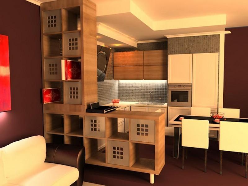Оригинальный интерьер кухни в японском стиле 15