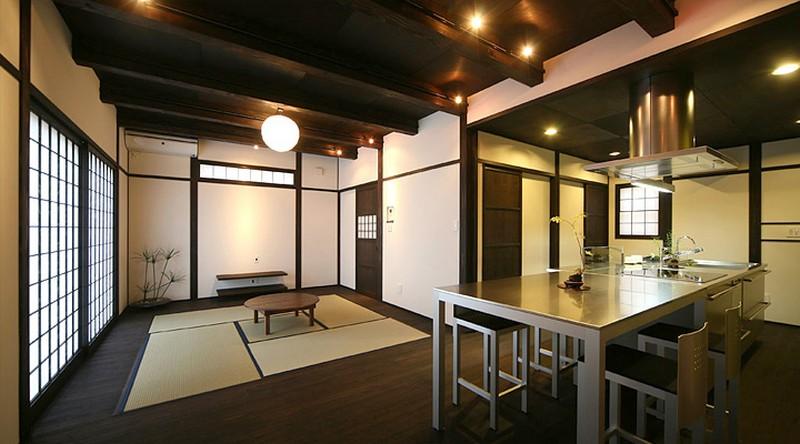 Оригинальный интерьер кухни в японском стиле 17