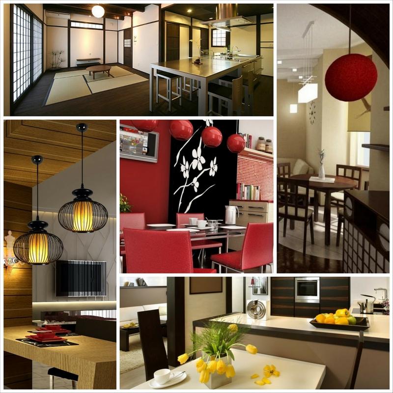 Оригинальный интерьер кухни в японском стиле