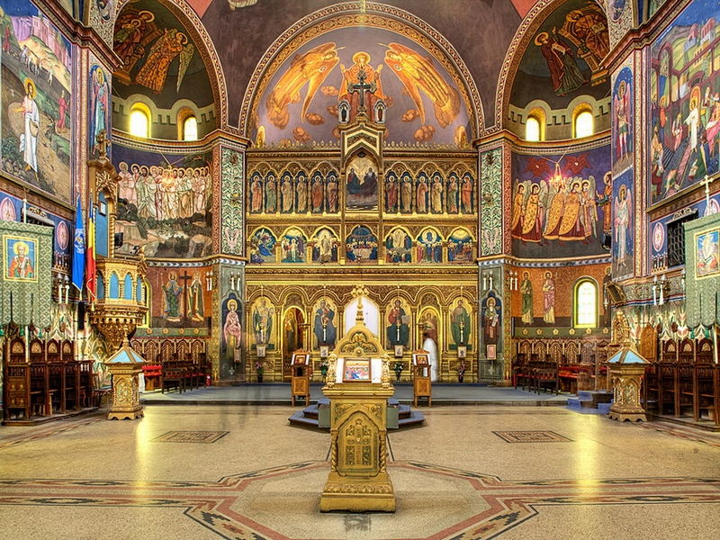 Основные достопримечательности Киева в фотографиях Sophia-Cathedral-interior