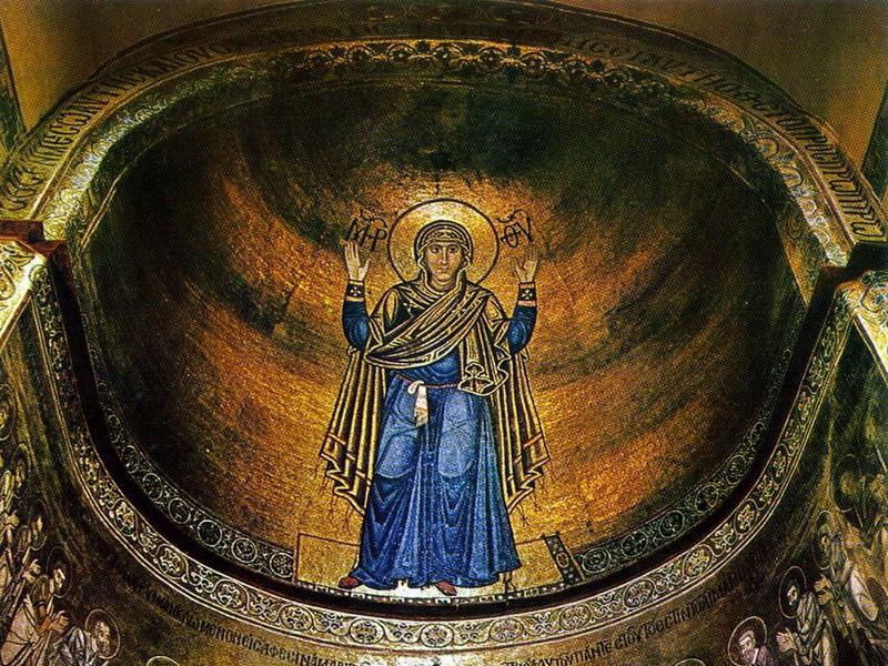 Основные достопримечательности Киева в фотографиях Sophia-Cathedral-Virgin-Orans
