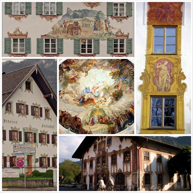 Деревня Обераммергау в Германии, нарисованная сказка