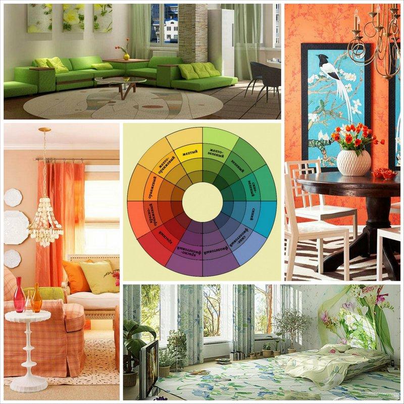 Учимся сочетать цвета в дизайне интерьера
