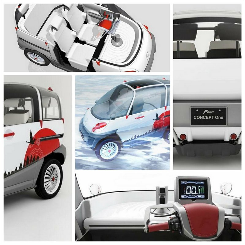 Fomm Concept One - концепт плавающего электромобиля