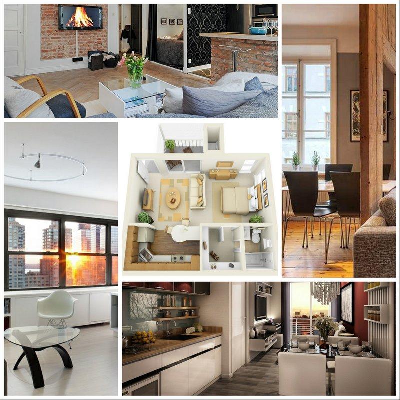 Дизайн квартиры студии - варианты оформления