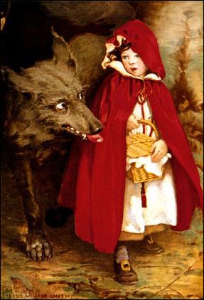 """""""Красная шапочка"""" в стиле разных известных авторов."""