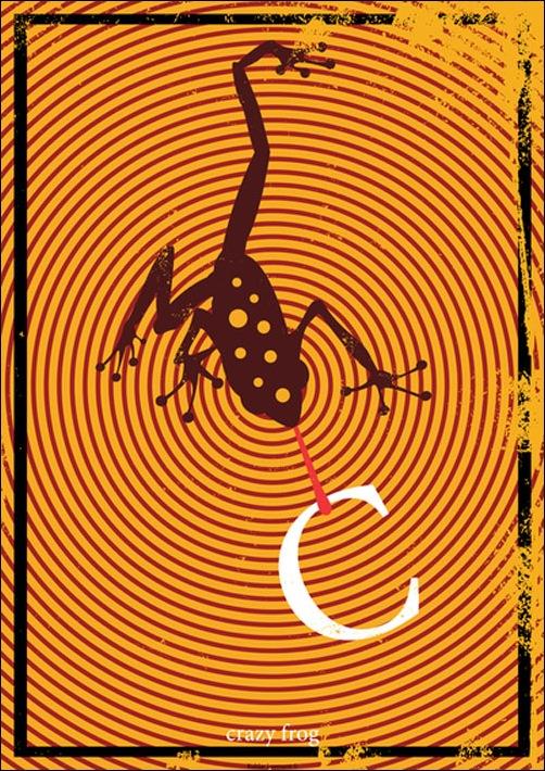Алфавит от эстонского иллюстратора под ником Peagabassi