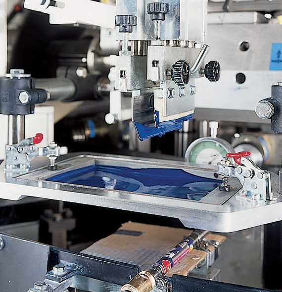 метод печати на ткани шелкография