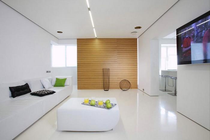 Минимализм в дизайне одной московской квартиры 1
