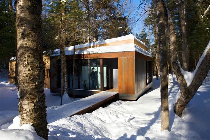 Дом из дерева посреди канадского леса 3