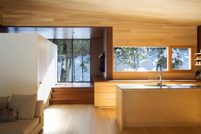 Дом из дерева посреди канадского леса 5
