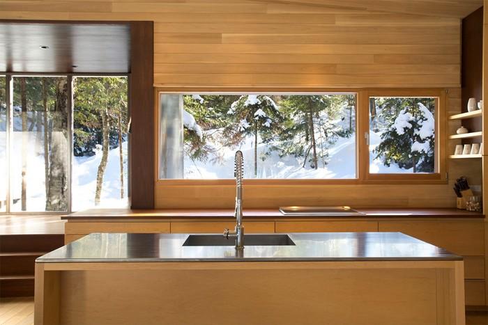 Дом из дерева посреди канадского леса 6