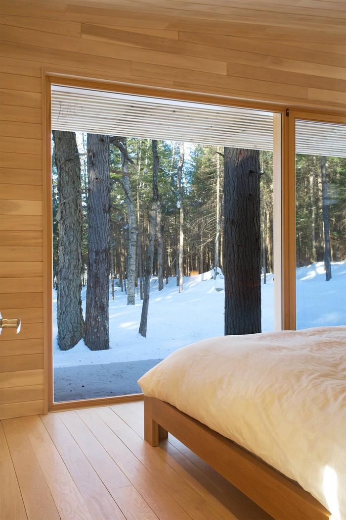 Дом из дерева посреди канадского леса 18