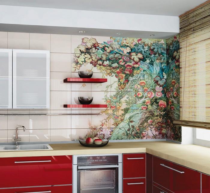 Керамическая плитка в интерьере вашего дома 13