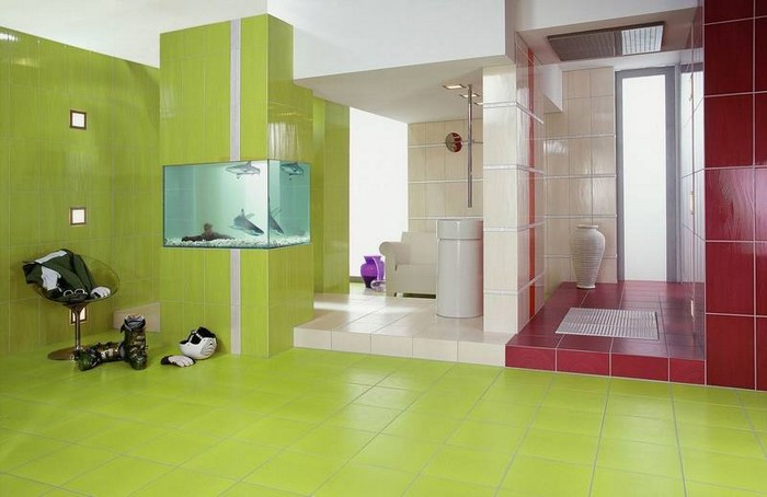 Керамическая плитка в интерьере вашего дома 26