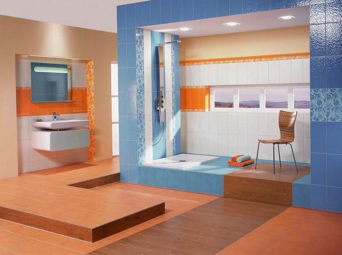 Керамическая плитка в интерьере вашего дома 45