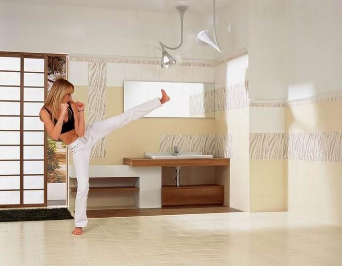 Керамическая плитка в интерьере вашего дома 69
