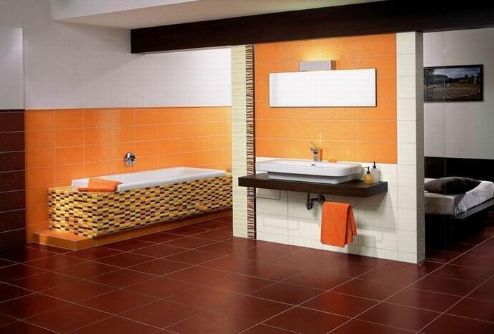 Керамическая плитка в интерьере вашего дома 77
