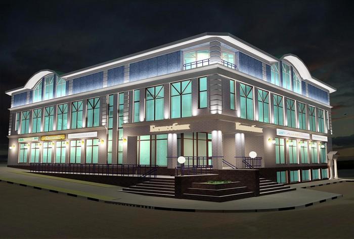 Красивое наружное архитектурное освещение зданий 1