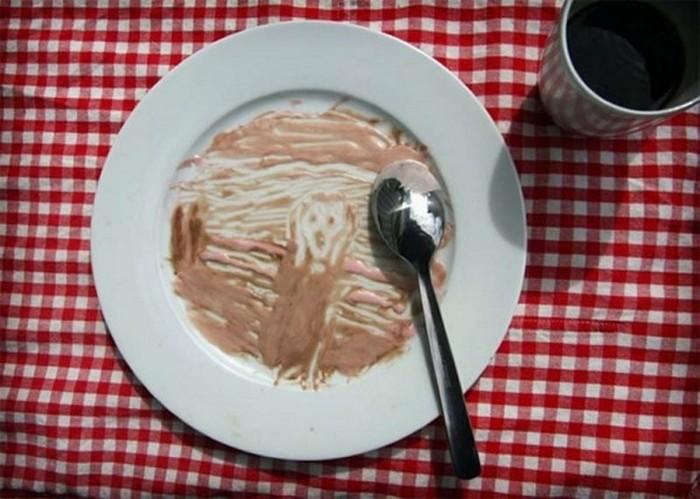 Знаменитые картины из еды 8