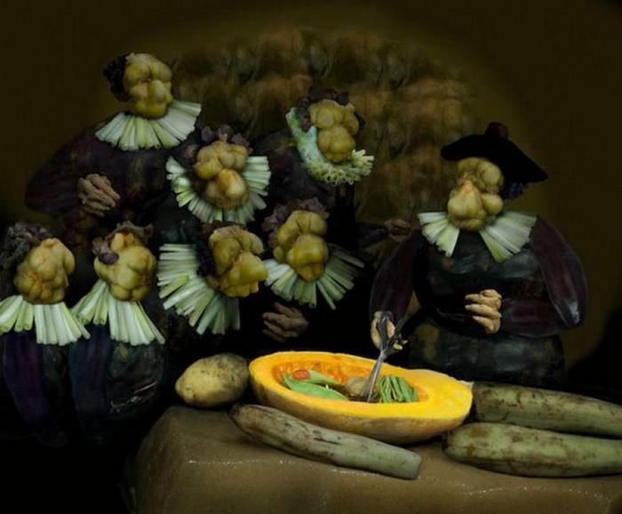 Знаменитые картины из еды 13