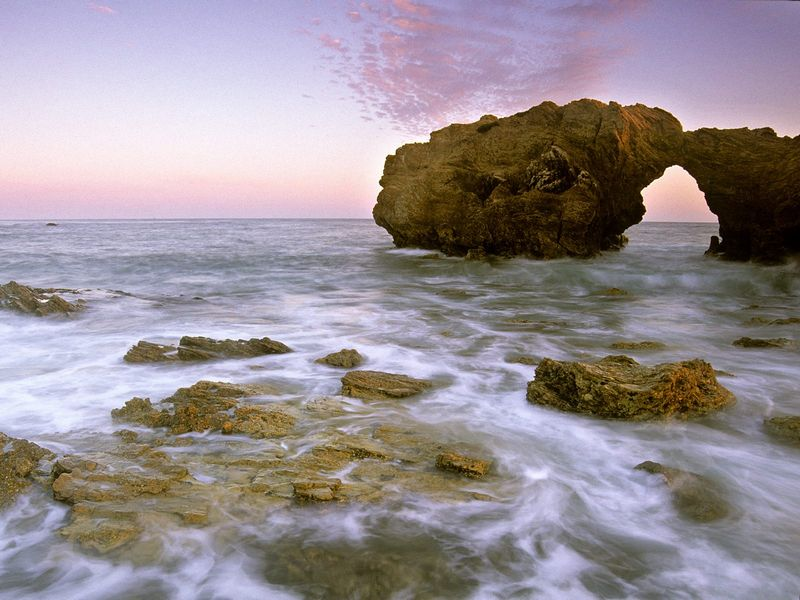 Красивые фото заката солнца - Corona Del Mar at Sunset, California