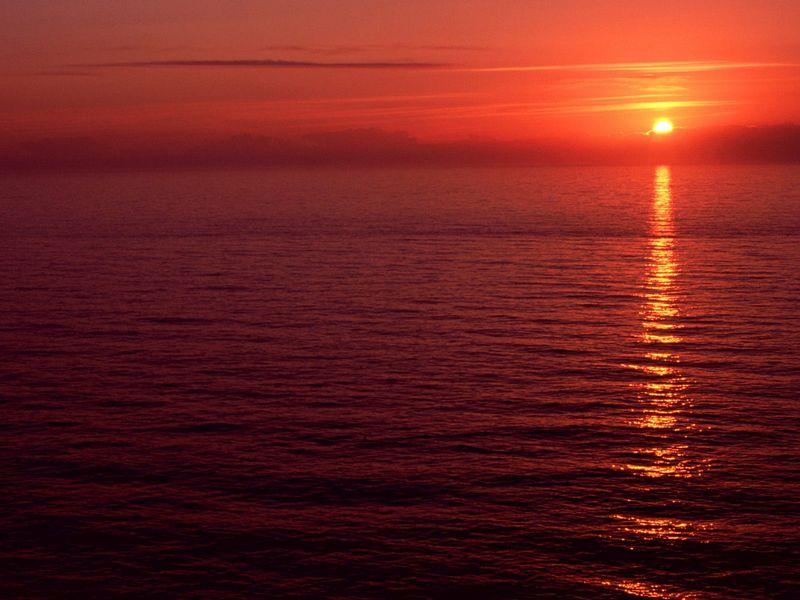 Красивые фото заката солнца - Florence Sunset, Oregon