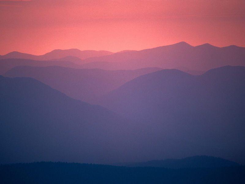 Красивые фото заката солнца - Montana Sunset