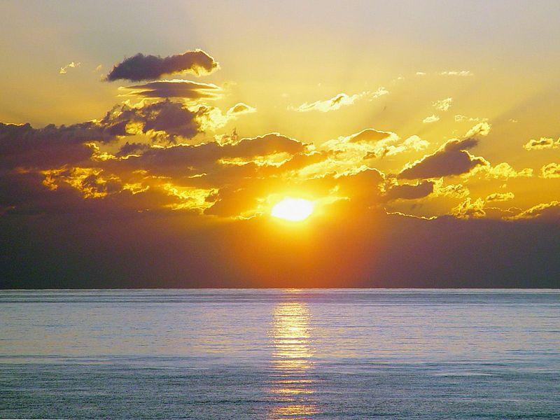 Красивые фото заката солнца со всех