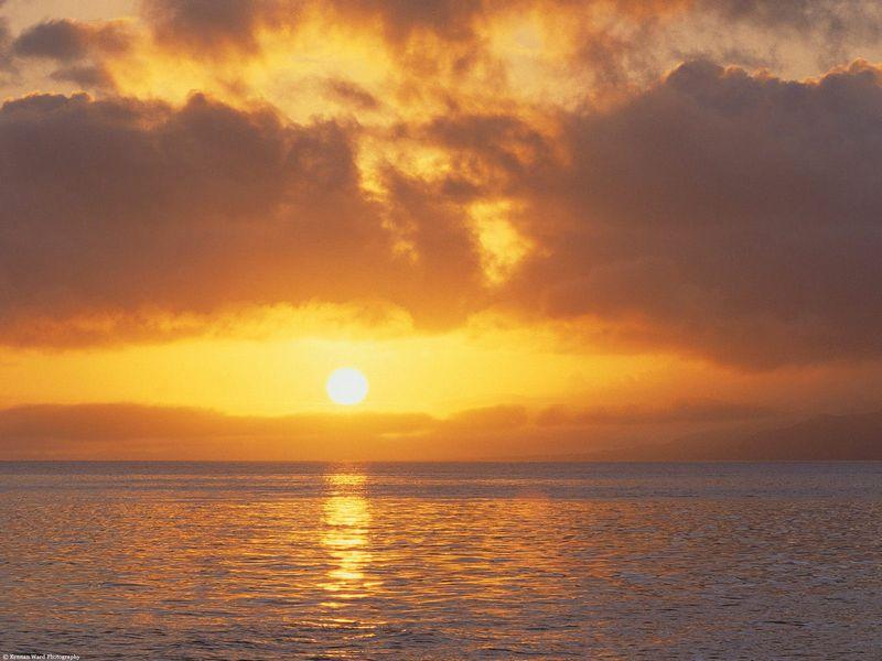 Красивые фото заката солнца - Pacific Sunset