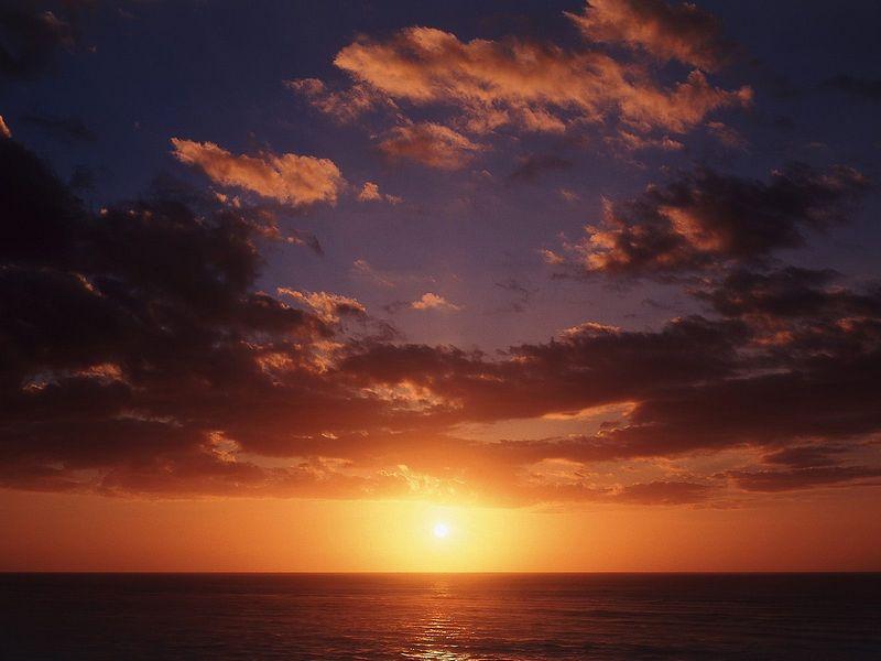 Красивые фото заката солнца - Perfect Ending, New Zealand