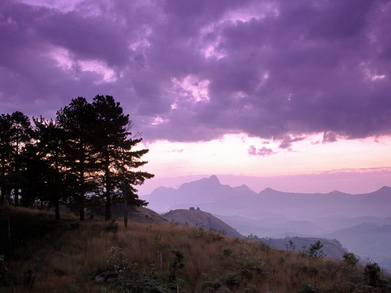 Красивые фото заката солнца - Serra dos Orgaos National Park, Brazil