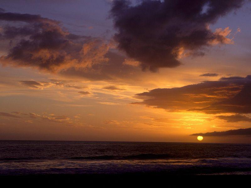 Красивые фото заката солнца - Sunset Sky, Carpinteria, California